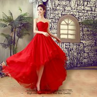 Sweety Sexy Sweetheart A-Line Formal Evening Dresses 2021 Hi-Lo Tulle Pleat Lace Up Prom Party Gowns E39