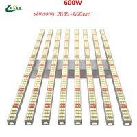 600w 8bars Full spectrum led grow lights 8bar web 640w samsung 2835 hybrid 660nm 3000k 5000K indoor lighting