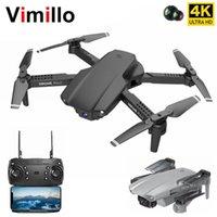 VIMILLO E99 PRO2 Mini Drones con cámara HD 4K Profesional Dual Cámara WiFi FPV Helicóptero Foldable RC Quadcopter Dron Juguetes