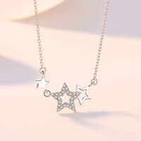 HBP Luxury Simple Small Fresh Star Necklace Moda Pentagrama Coreano Pentagrama Clavicular Colgante