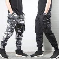 2021 Neue Mode Streetwear Hohe Qualität Camouflage Hosen Männer Multi Pockets Hip Hop Joggers Hosen Homme TVQJ