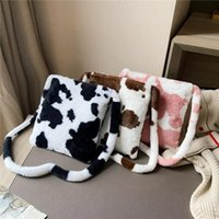Moda Bow Cow Pattern Messenger Bag Portatile Donne Viaggio Grande Capacità Borsa Top-Handle Studente School School Satchel