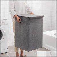 Laundry Clothing Racks Housekee Organization Home & Gardenlaundry Bags Storage Basket Handle Clothes Er Bucket Large Capacity Folding Holder