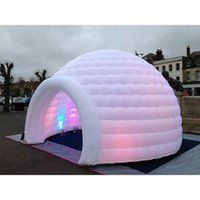 Tents And Shelters FUNWORLD Outdoor Oxford Cloth Led Lighting Inflatable Snow Igloo Dome For Sale