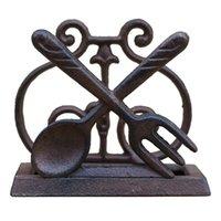 Anillos de servilleta Titular de tejido de hierro fundido vintage personalizado Decoración de mesa