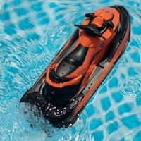 جديد وصول rc قارب 2.4 جرام 50 متر التحكم عن بعد الصيف الماء رش كهربائي محرك قارب الأطفال لعبة هدية