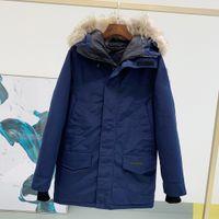 2021TOP 품질 겨울 남성 캐나다 다운 파카 코트 퓨전 캐나다 BONNET 코트 따뜻한 GODE WOMENS 베이지 색 파란 재킷 GOSSE BOMBER 모피 고세 칼라 -S-XXL