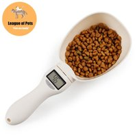 Dog Bowls & Feeders 800g 1g Pet Food Scale Cup For Cat Feeding Bowl Kitchen Spoon Measuring Scoop Portable With Led Display