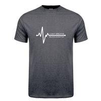 Siyah Yaşamın Kalp Maddenin T Gömlek Tees Mans Mans Nefes alamıyorum T-shirt Kısa Kollu OW-056 Tops