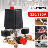 Válvula do interruptor da pressão do compressor de ar do regástico de 230-220V Regulador do interruptor da bomba do compressor de ar 90-220V 90-120 psi com calibre