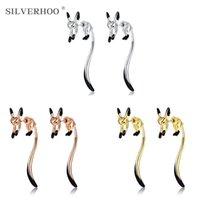 Stud Cute Fine Earrings For Women Copper Enamel Glaze Classic 3 Colors Lady Jewelry Accessories Earring Gift