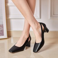 Dress Shoes Big Size 34-45 2021 Fashion Women Pumps Pu Leather Shallow Ladies Summer High Heels Office Woman