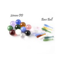 Terp Slurper Smoking Accessories Iclude Solid Color Beads And BaseBalls Suit For Quartz Banger Nails Glass Bongs