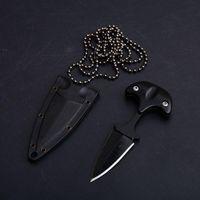 Nuevo estilo urbano PAL 43 LS Pequeño cuchillo de cuchilla fija Karambit Cuchillo de bolsillo Karambit Cuchillo táctico con funda K y collar 3300 B283L Envío gratis