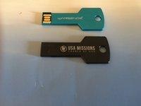Single side free laser logo 60pcs 1GB 2GB 4GB 8GB 16GB Metal Key USB Drive Memory Flash Pendrive Stick