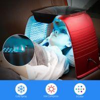 PDT fotodinâmico LED terapia de luz vermelha de pele de rejuvância de pele da pele com a face vapor quente e frio nano spray