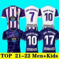 21/22 Valladolid Weissman Futebol Jerseys 2021 2022 Sergi Guardiola Camiseta Marcos André ÓScar Plano Camisa de Futebol Kit R.ALCARAZ TONI VILLA L.LAZA FEDE S. uniformes