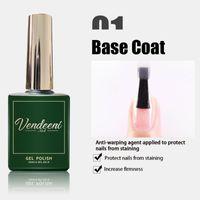 Gel per unghie 3 Bottiglia / set di 15ml Temping Top Coat Coat Funzionale Base Trasparente immergeta Vernice smalto smalto