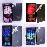 2021 Rose Seifenblume Muttertag Geschenk Einzelne Seife Blume Chinesische Valentinstag Valentinstag Geschenk für Freundin Geburtstagseife Blume