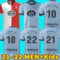 2021 2022 RC Celta de Vigo 21 22 Soccer Jerseys Jersey Lobotka Iago Aspas Noleto S.Mina Santl Mina Brais Méndez Men + Kids for Boy Sisto Boufal Kit
