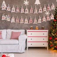 24 / Set decorativi e appesi piccoli sacchetti di stoffa Avvento calendario natale cotone in cotone borsa set regalo numeri colorati WLL378