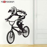 Bici ciclisti BMX BMX Freestyle Hobby Vinyl Sticker Adesivo per la casa Decorazioni per la casa per Boys Room Rimovibile Art Decalcomania murale Sfondi 3384 210308