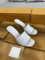 Com Box Verão Design Sandálias Weave Quadrado Toe Saltos Altos Qualidade Estranha Estilo Chinelos Gladiador Womens Sandal Slides Sapatos EUR 35-41