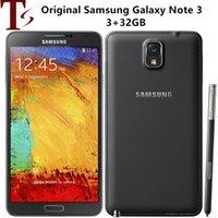 "Samsung Note 3 Original Samsung Galaxy Note 3 N900A N900T N900V الهاتف المحمول رباعية النواة 5.5 ""8MP 3G WiFi GPS Note 3 تم تجديد الهاتف الذكي"