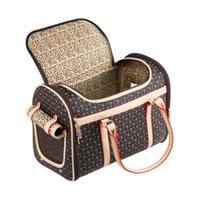 الفاخرة الكلب حبال حقيبة قابلة للطي ليوبارد الأزياء في الهواء الطلق الناقل الحيوانات الأليفة الصغيرة المتوسطة الجراء تحمل النقل حقيبة الكتف القط القط