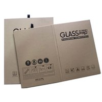 사용자 정의 디자인 하드 강력한 상자 크래프트 종이 포장 상자 전화 패드 234 에어 프로 태블릿 화면 보호기 강화 유리 AS297