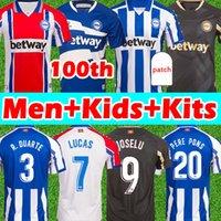 جديد Deportivo Alaves Soccer Jerseys 100th Centernera 2020 2021 ALAVÉS CAMISETA دي Fútbol Pere Pers Lucas Men Kids Kits Football Shirts