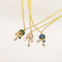 Fille Bijoux Accessoire O-chaîne Colliers Shell Star Conch Pendentif Collier Anniversaire Cadeau d'anniversaire