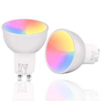 Contrôle de l'application Wifi Smart LED RGB Lampe E27 GU10 GU5.3 Supports de lumière Amazon Alexa Google Accueil Contrôle vocal Ampoule