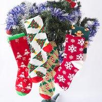 Serie de Navidad Mujeres Calcetines de algodón Divertido Feliz personalidad Dibujos animados de calcetines largos para hombres Absorbe el sudor espesando más tamaños WLL394