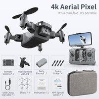 KY905 Mini Drone 4 K Kamera Ile HD Katlanabilir Drones Quadcopter Tek Anahtar Dönüş FPV Takip Beni Takip et RC Helikopter Quadrocopter Kid's Oyuncaklar