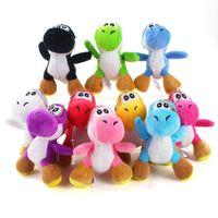 "10pcs Lot 4"" 10cm Yoshi Plush Doll Stuffed Animals Toy For Child Holiday Gifts"