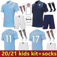 20 21 Lazio Home Soccer Jerseys 2020 2021 Away f.anderson Lucas Kishna D Jord Jevic Keita Incobile Kids Kit Commirts Offe