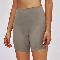 L-2064 Yüksek Katlı Yoga Pantolon Kıyafet T-Line Ile Çıplak Duygu Elastik Sıkı Bayan Spor Sıcak Pantolon Spor Slim Fit Spor Şort