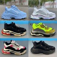 Yeni platform Triple-ler 6 katmanlı kombinasyon tek Casual baba ayakkabılar üçlü siyah beyaz neon sarı çok renkli bağbozumu gri erkekler kadınlar spor ayakkabıları