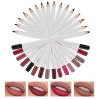 Maquillaje 16 colores Líder labial Alto Pigmentado Liso Eyeliner Eyeliner Eyebrow-forro 3 en 1 Lápiz mate Etiqueta personalizada