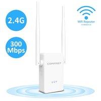 Comfast WiFi موسع طويل المدى 300Mbps مكرر / راوتر / AP WR302S 5DBI هوائيات الخارجية المزدوجة 2.4GHz Wi-Fi إشارة الداعم 210607