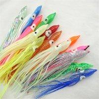 50 adet 12 cm Yumuşak Plastik Ahtapot Balıkçılık Lures Jigs Karışık Renk Aydınlık Silikon Ahtapot Etek Yapay Jig Yem 33 Z2
