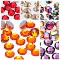 Nail Art Strasssteine Kristall Micro Diamant Flatback Klebstoff Feste Nicht Hotfix Strass Dekoration Kleidung DIY Farben x 1000 stücke 2mm 3mm 464 V2