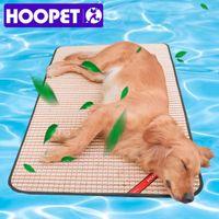 Kennels Pens Hoopet Pastel de enfriamiento para mascotas Almohadilla de verano para perros Cat Mat-Mat Dog Bambú Suministros de cama
