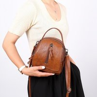 Evening Bags Forest Bucket Handbag Small Tote Bag Early Summer Retro Soft Leather Female 2021 Single Room Messenger