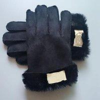 Guanti invernali a maglia con incantevole pelliccia di pelliccia Guanti Label Australia Mitten Donne Design Mitts Guanti da equitazione all'aperto Guanti in pile caldi 334
