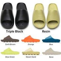 2021 أعلى عداء النعال الشريحة الصنادل أحذية رجالي enflame البرتقالي الثلاثي أسود أبيض العظام الراتنج الأرض البني الأخضر الرجال النساء صندل الحجم 32-47