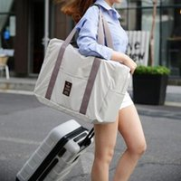 Duffel Bags 2021 Foldable Travel Tote For Women Unisex Large Luggage Handbags Men Solid Rectangle