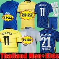 CFC Soccer Jersey Pulisic Ziyech Havertz Kante Werner Abraham Chilwell Mount Jorginho 2021 2022 Giroud Football Shirt 21 22 Home Thrid Thailand Men + Kids Kit
