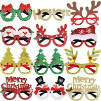 Merry Christmas Glasses Frame Santa Snowman Tree Funny Party Masks Accessories Ornaments Decoration Fashion Kids Photo props Gift